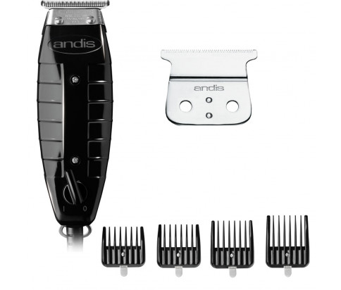 Andis Bundle With GTX T-Outliner T-Blade Trimmer + T-Outliner Replacement Blade - Carbon Steel + Snap-On Blade Attachment Combs 4-Comb Set (2)