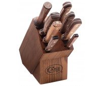 Case Knives - Household Cutlery 9-Piece Block Set (Solid Walnut Handles)