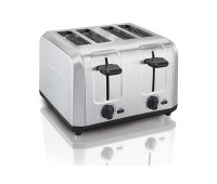 Hamilton Beach - Brushed Stainless Steel 4-Slice Toaster w/ Extra Wide Slots