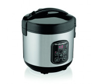 Hamilton Beach - 8 Cup Sealed Lid Digital Rice Cooker Black