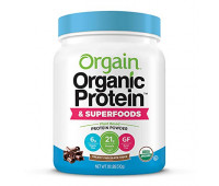 Orgain - Organic Vegan, Gluten Free Plant Based Protein & Superfoods Powder - Creamy Chocolate Fudge (1.12 LB)