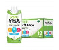 Orgain - Vegan Organic Nutrition Shake - Sweet Vanilla Bean (11oz, 12 Pack)