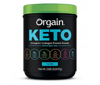 Orgain - Keto Collagen, Gluten Free, Paleo Friendly Protein Powder with MCT Oil - Vanilla  (0.88 LB)