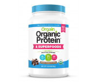 Orgain - Organic Vegan, Gluten Free Plant Based Protein & Superfoods Powder - Creamy Chocolate Fudge (2.02 LB)