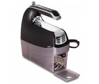 Hamilton Beach - 6 Speed Hand Mixer with Snap-On Case Blac