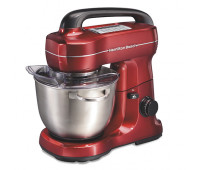 Hamilton Beach - 7-Speed 4qt Stand Mixer Red