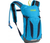 CamelBak - Kids Mini M.U.L.E. Hydration Pack, 50oz, Atomic Blue