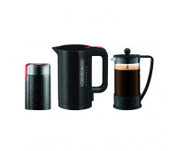 Bodum - French Press coffee maker, 8 cup, 1.0 l, 34 oz, Electric coffee grinder, Electric water kettle, 1.0 l, 34 oz