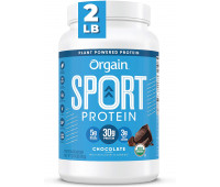 Orgain - Organic Sport Vegan, Gluten Free, Dairy Free Protein Powder - Chocolate (2.01 LB)