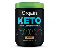 Orgain - Keto Collagen, Gluten Free, Paleo Friendly Protein Powder with MCT Oil - Chocolate (0.88 LB)