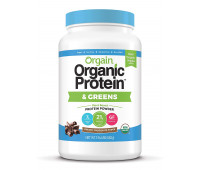 Orgain - Organic Vegan, Gluten Free Plant Based Protein & Greens Powder - Creamy Chocolate Fudge (1.94 LB)
