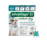 Bayer - Advantage II Dog Mediumᅠ 11-20#
