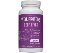 Vital Proteins - 	Grass-Fed Desiccated Beef Liver Pills (120 Capsules, 750mg each)