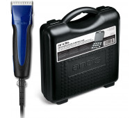 Andis Pro-Animal Bundle With Excel 5-Speed+ Detachable Blade Clipper — Blue + Blade Carrying Case