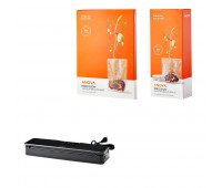 Anova Silver Accessories Bundle - Vacuum Sealer, 1 Pack Rolls & 1 Pack Bags