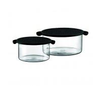 Bodum - 2 pcs bowl with lid, 1.0 l, 34 oz - 2.5 l, 85 oz