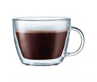 Bodum - 2 pcs cafe latte cup, double wall, 0.45 l, 15 oz