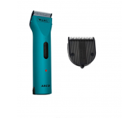 Wahl - Professional Animal ARCO Cordless Clipper Kit and 5-1 Diamond Blade Bundle, Teal