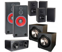 BIC America RTR-1530, DV62, 7.2 Channel Home Theater System with F-12 Subwoofers