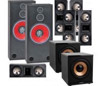 BIC America RTR-1530 7.2 Home Theater System with 5 FH6-LCR + 2 H-100