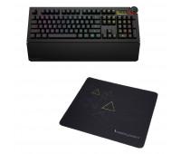 Das Keyboard 5Q Mechanical Keyboard: RGB-WIN-MAC-LINUX + Das Keyboard Triangle Mouse Pad
