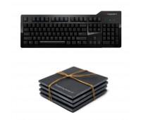 Das Keyboard Bundle With Model S Professional Mechanical Keyboard  + Das Keyboard 4-Piece Stone Coaster Set