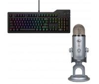 Das Keyboard Bundle with 4Q Mechanical Keyboard: MX-RGB-WIN-LINUX + Blue Mic Yeti