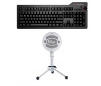 Das Keyboard Bundle with 4 Professional Mechanical Keyboard  + Blue Mic Snowball