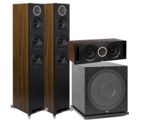 ELAC Debut Reference DFR52 Floorstanding Speaker - Pair - Black 3.1 Channel Home Theater System Bundle With DCR52-BK and ELAC Subwoofer SUB3030