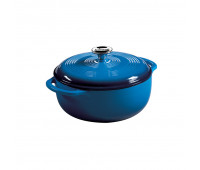 Lodge 4.5 Quart Blue Enameled Cast Iron Dutch Oven