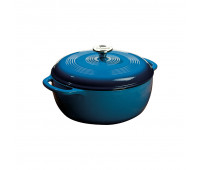 Lodge 6 Quart Blue Enameled Cast Iron Dutch Oven