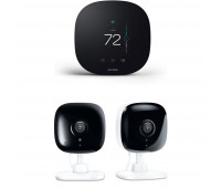 ecobee3 lite Smart Thermostat Bundle with 2 Kasa Spot - 1080p full-HD indoor security cameras