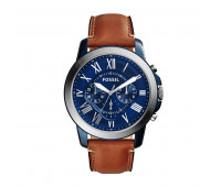 Fossil Men's Grant Chronograph Light Brown Leather Watch