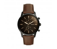 Fossil Men's Townsman 44mm Chronograph Brown Leather Watch