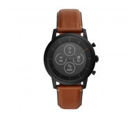 Fossil Men's Hybrid Smartwatch HR Collider Tan Leather