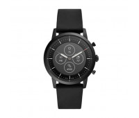 Fossil Men's Hybrid Smartwatch HR Collider Black Silicone