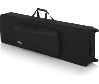 Gator Cases Rigid EPS Foam Lightweight Case w/ Wheels for 88-Note Keyboards; Reduced Depth