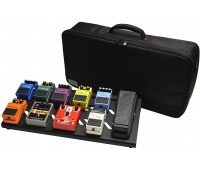 Gator Cases Black Large aluminum pedal board with Gator carry bag and bottom mounting power supply bracket. Power supply not included.
