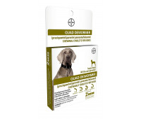 Bayer - Quad Dewormer 136mg Large Dog 45 lbs & greater