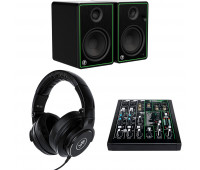 Mackie Bundle With Mackie ProFX Series 6-Channel Mixer + Mackie MC Series Headphones Black MC-150 + Mackie CR Series Studio Monitor (CR5-X)
