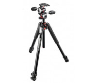 055 kit - alu 3-section horiz. column tripod with head