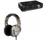 Shure + Mackie Producer Bundle - SRH940 Professional Reference Headphones  + Onyx Producer 2•2