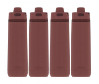 4 Thermos Guardian 24oz Stainless Steel Hydration Bottle Burgundy