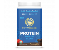 Sunwarrior - Warrior Blend - Organic Vegan Protein Powder with BCAAs and Pea Protein (Chocolate, 30 Servings)
