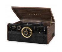 Victrola Empire 7 in 1 Bluetooth Record Player with CD Cassette USB and 3 Speed Turntable