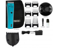 Wahl Professional Animal Bravura Pet, Dog, Cat, and Horse Corded / Cordless Clipper Kit, Turquoise + Wahl Professional Animal 5-in-1 Diamond Blade