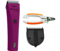 Wahl Professional Animal Bravura Pet, Dog, Cat, and Horse Corded / Cordless Clipper Kit, Berry + Wahl Professional Animal 5-in-1 Diamond Blade + Wahl Pet Nail Clipper