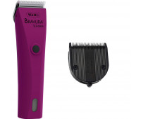 Wahl Professional Animal Bravura Pet, Dog, Cat, and Horse Corded / Cordless Clipper Kit, Berry + Wahl Professional Animal 5-in-1 Diamond Blade