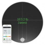 Qardio - QardioBase 2 Wireless Smart Scale and Body Analyzer - Volcanic Black